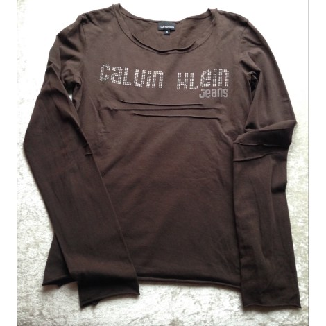 Top, tee-shirt CALVIN KLEIN Marron