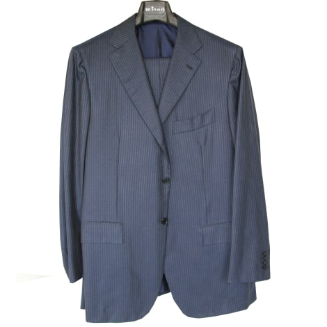 Costume complet KITON Bleu, bleu marine, bleu turquoise