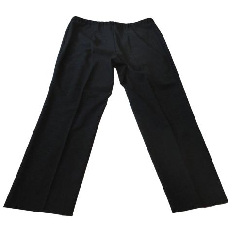 Pantalon droit ELENA MIRO Gris, anthracite