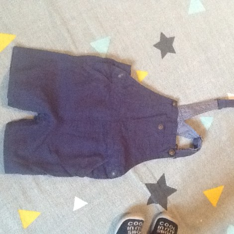 Salopette short ZARA BABY Bleu, bleu marine, bleu turquoise