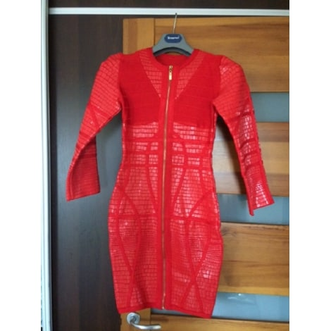 Robe courte MEILUN Rouge, bordeaux