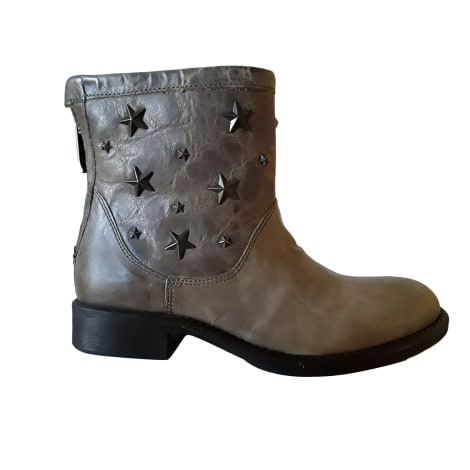Bottines & low boots plates GUESS Taupe