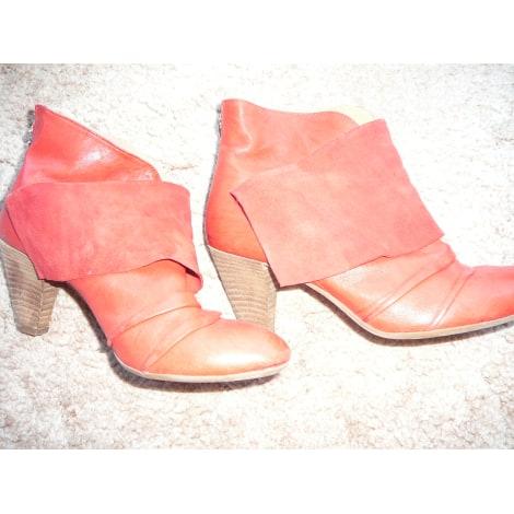 Bottines & low boots à talons JANET SPORT Rouge, bordeaux