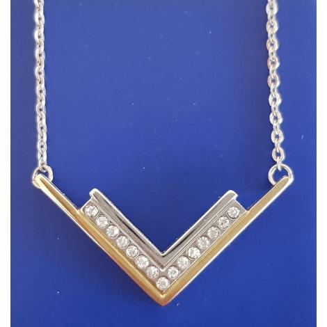 Pendentif, collier pendentif TED LAPIDUS Argenté, acier