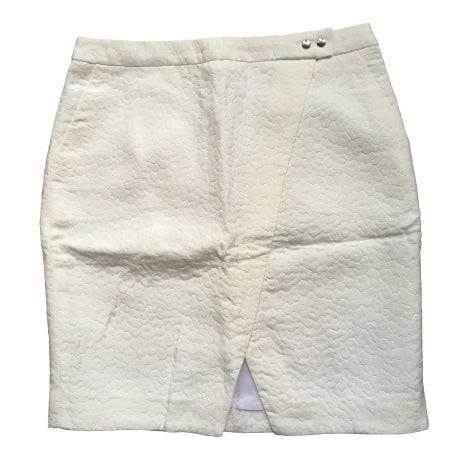 Jupe courte ZAPA Blanc, blanc cassé, écru