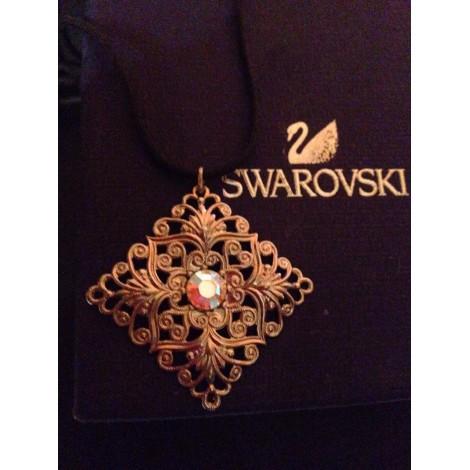 Pendentif, collier pendentif SWAROVSKI Argenté, acier