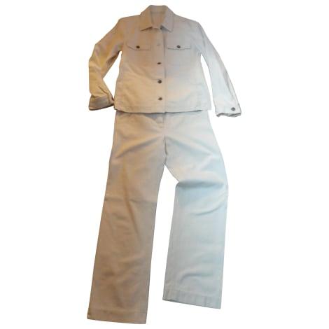 Tailleur pantalon MAX MARA Blanc, blanc cassé, écru
