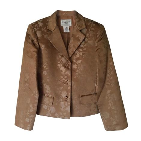 Blazer, veste tailleur OSCAR DE LA RENTA Marron
