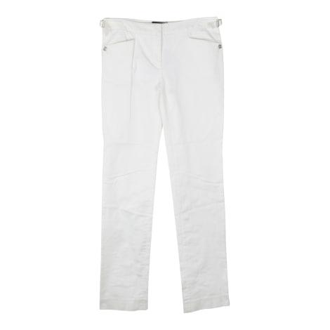 Pantalon droit DOLCE & GABBANA Blanc, blanc cassé, écru