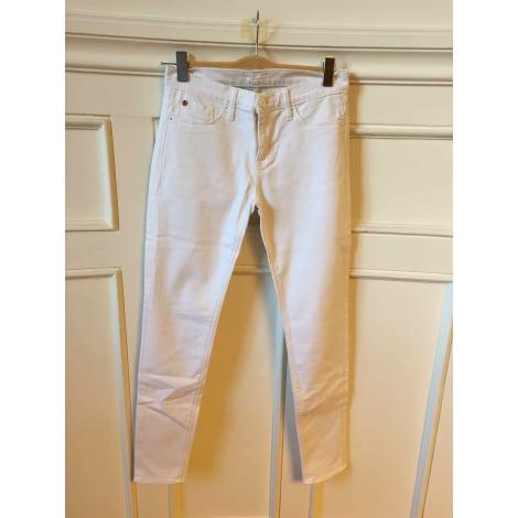 Jeans slim HUDSON JEANS Blanc, blanc cassé, écru