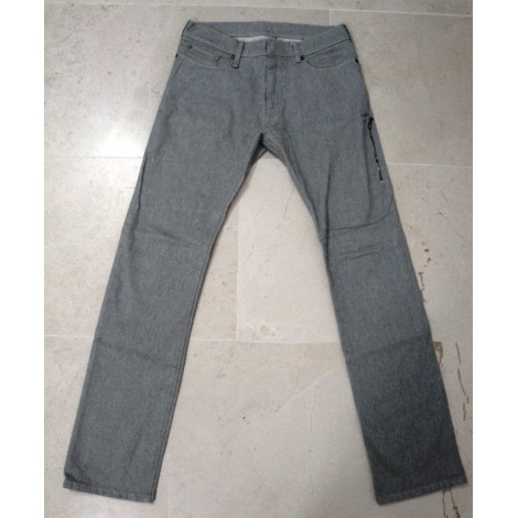 Jeans droit NEIL BARRETT Gris, anthracite