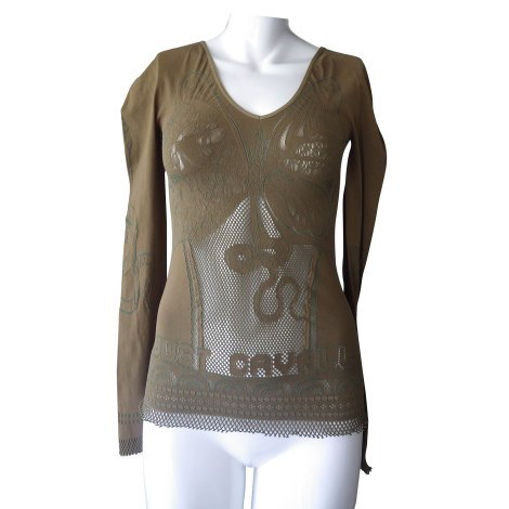 Top, tee-shirt JUST CAVALLI Kaki