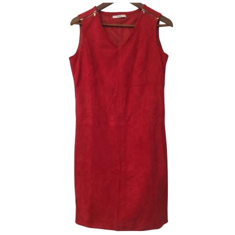 Robe courte ZAPA Rouge, bordeaux