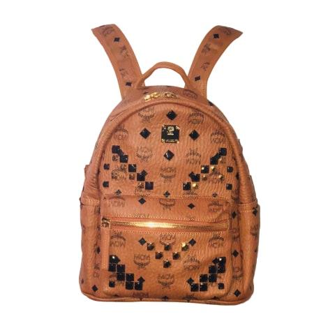 Backpack MCM Beige, camel