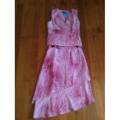 Tailleur jupe BLEU 123 Rose, fuschia, vieux rose