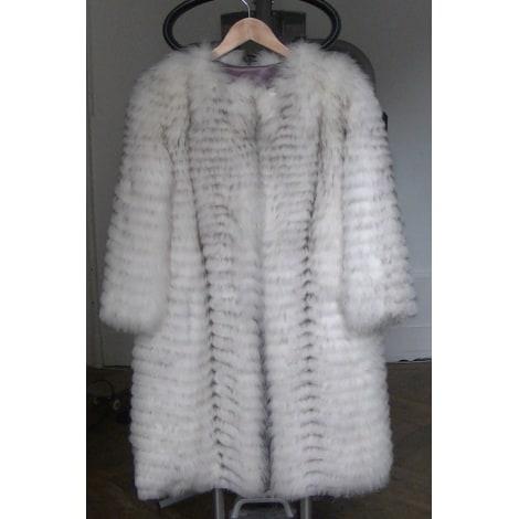 Manteau en fourrure NON SIGNÉ Blanc, blanc cassé, écru