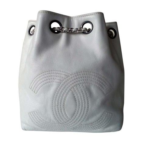 Backpack CHANEL White, off-white, ecru