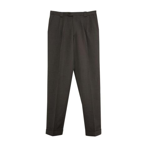 Pantalon droit VERSACE Gris, anthracite