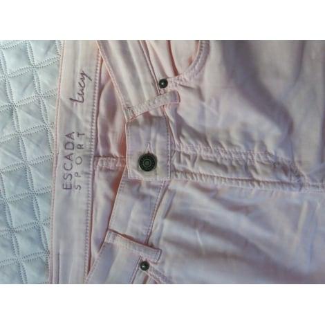 Pantalon droit ESCADA rose pâle