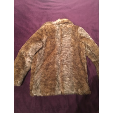 Manteau en fourrure NAF NAF Beige, camel