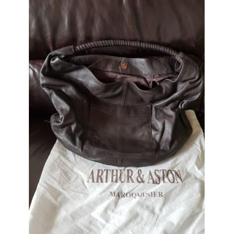Sac à main en cuir ARTHUR & ASTON Marron