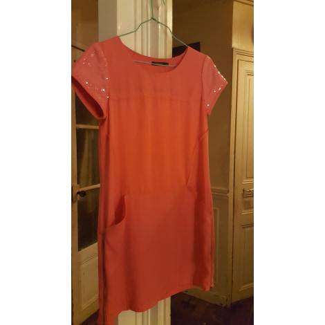 Robe courte COLOR BLOCK Orange