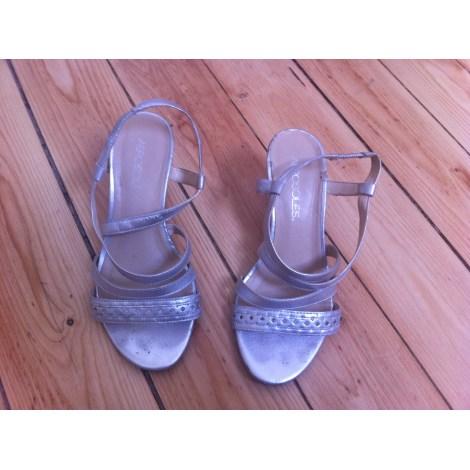 Sandales à talons AEROSOLES Argenté, acier