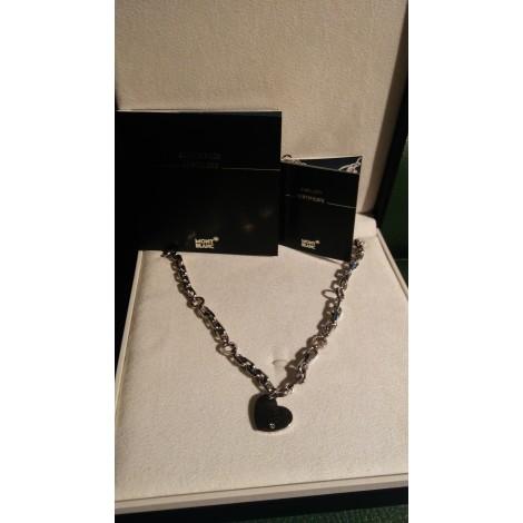 Pendentif, collier pendentif MONTBLANC Argenté, acier