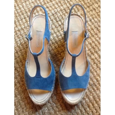 Sandales compensées L'AUTRE CHOSE Bleu, bleu marine, bleu turquoise