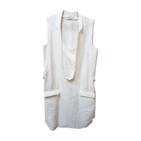 Robe courte ANNE VALÉRIE HASH Blanc, blanc cassé, écru