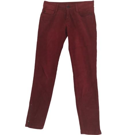Pantalon slim, cigarette COMPTOIR DES COTONNIERS Rouge, bordeaux