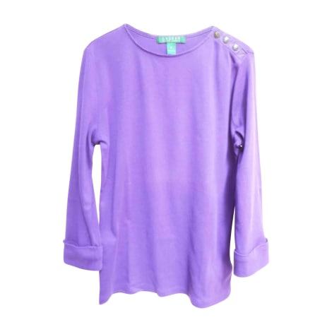Top, tee-shirt RALPH LAUREN Violet, mauve, lavande