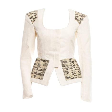 Blazer, veste tailleur TOM FORD Blanc, blanc cassé, écru