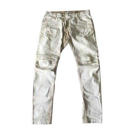 Jeans slim PIERRE BALMAIN Blanc, blanc cassé, écru