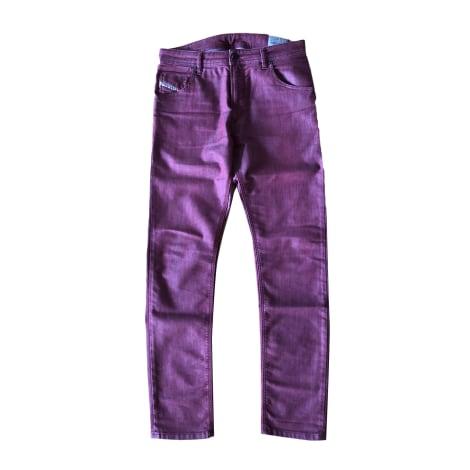 Jeans slim DIESEL Rouge, bordeaux