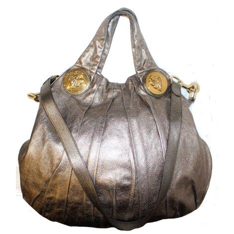 Sac XL en cuir GUCCI Hobo Doré, bronze, cuivre
