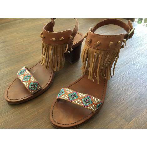 Sandales à talons ASH Beige, camel