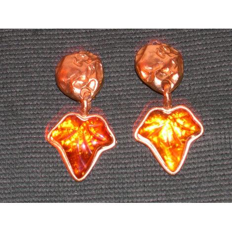 Boucles d'oreille MARC LABAT Doré, bronze, cuivre