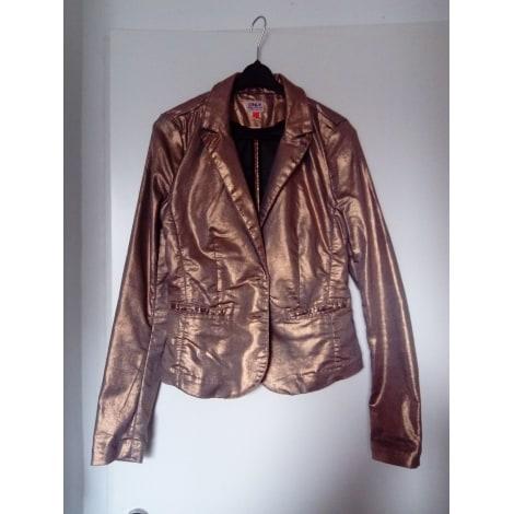 Veste ONLY Doré, bronze, cuivre