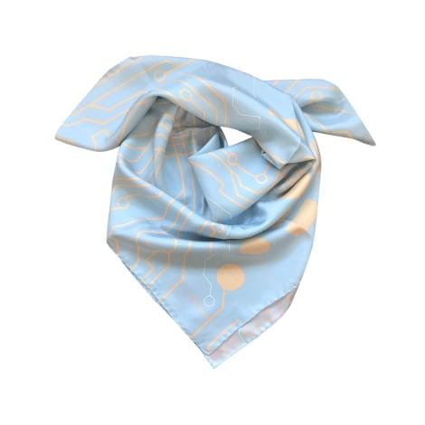 Foulard CHANEL Bleu, bleu marine, bleu turquoise