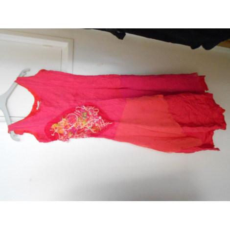 Robe mi-longue LEÏKO Rose, fuschia, vieux rose