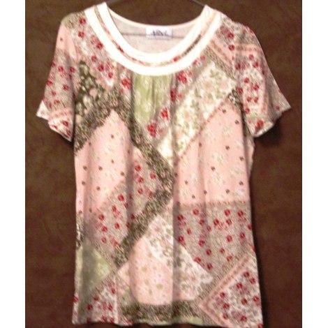 Top, tee-shirt AFIBEL Rose, fuschia, vieux rose
