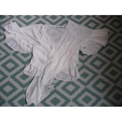 Blouse MANGO Blanc, blanc cassé, écru