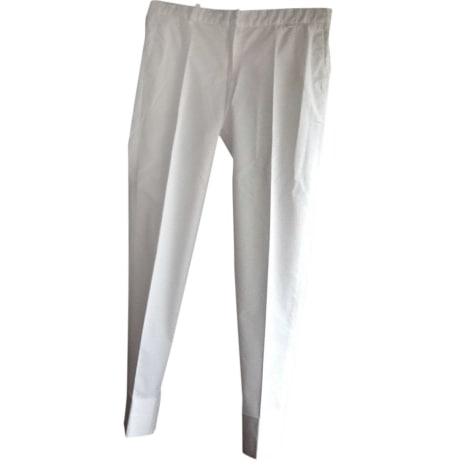 Pantalon droit TARA JARMON Blanc, blanc cassé, écru