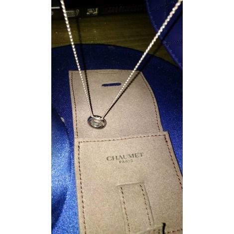 Pendentif, collier pendentif CHAUMET Argenté, acier