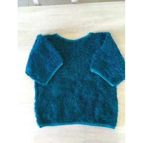 Pull 100% VINTAGE Bleu, bleu marine, bleu turquoise