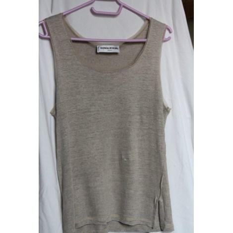 Top, tee-shirt SONIA RYKIEL Beige, camel