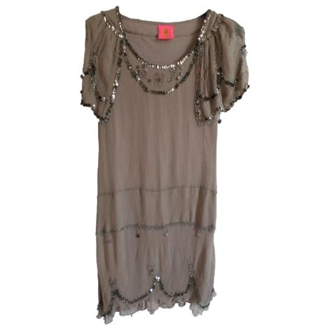 Robe mi-longue MANOUSH Beige, camel
