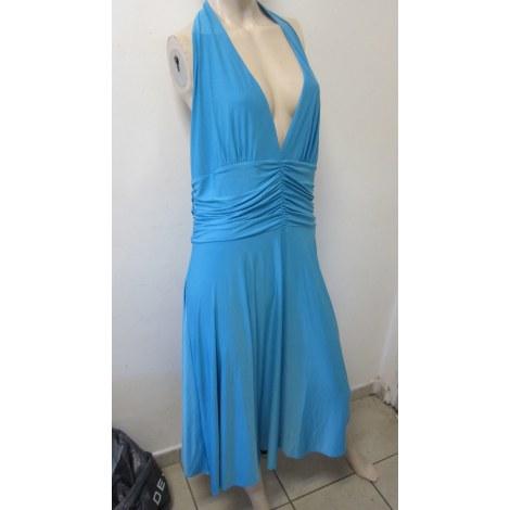 Robe longue SERGE MANOUKIAN Bleu, bleu marine, bleu turquoise