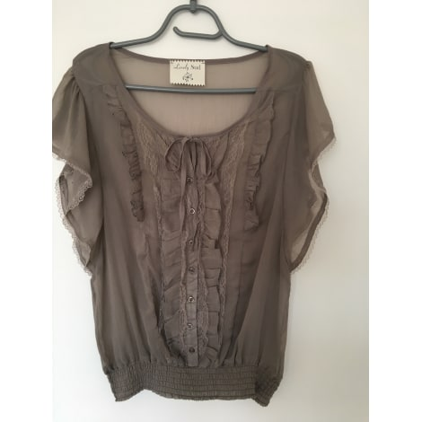 Top, tee-shirt LOVELY SUD Taupe